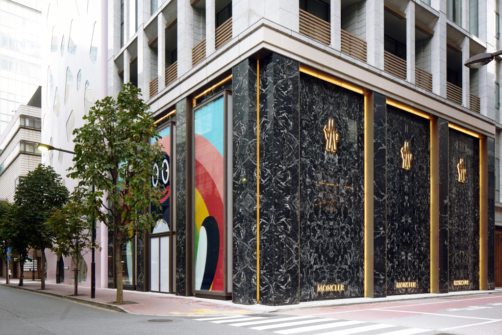 The Moncler flagship store in Tokyo's Ginza district.